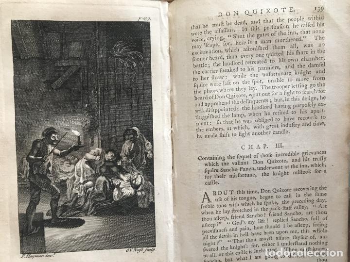 Libros antiguos: The History and Adventures ...Don Quixote, 4 tomos, 1761. Cervantes/Smollett. 28 grabados de Hayman - Foto 26 - 214504323