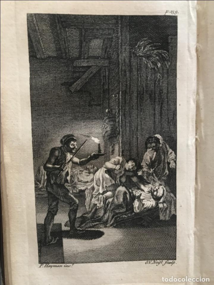 Libros antiguos: The History and Adventures ...Don Quixote, 4 tomos, 1761. Cervantes/Smollett. 28 grabados de Hayman - Foto 27 - 214504323