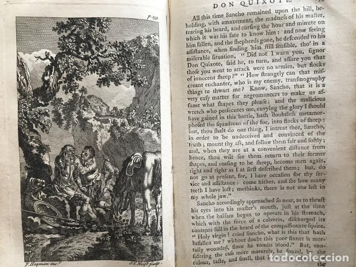 Libros antiguos: The History and Adventures ...Don Quixote, 4 tomos, 1761. Cervantes/Smollett. 28 grabados de Hayman - Foto 28 - 214504323