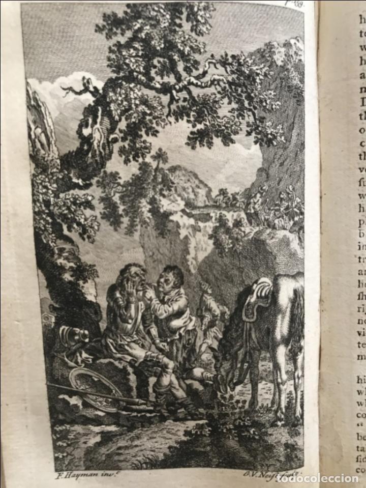 Libros antiguos: The History and Adventures ...Don Quixote, 4 tomos, 1761. Cervantes/Smollett. 28 grabados de Hayman - Foto 29 - 214504323