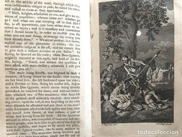Libros antiguos: The History and Adventures ...Don Quixote, 4 tomos, 1761. Cervantes/Smollett. 28 grabados de Hayman - Foto 30 - 214504323