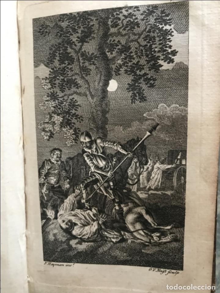 Libros antiguos: The History and Adventures ...Don Quixote, 4 tomos, 1761. Cervantes/Smollett. 28 grabados de Hayman - Foto 31 - 214504323