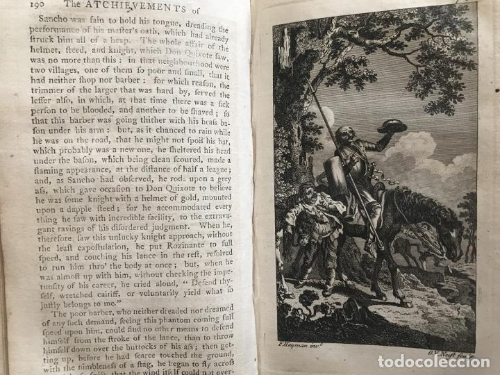 Libros antiguos: The History and Adventures ...Don Quixote, 4 tomos, 1761. Cervantes/Smollett. 28 grabados de Hayman - Foto 32 - 214504323