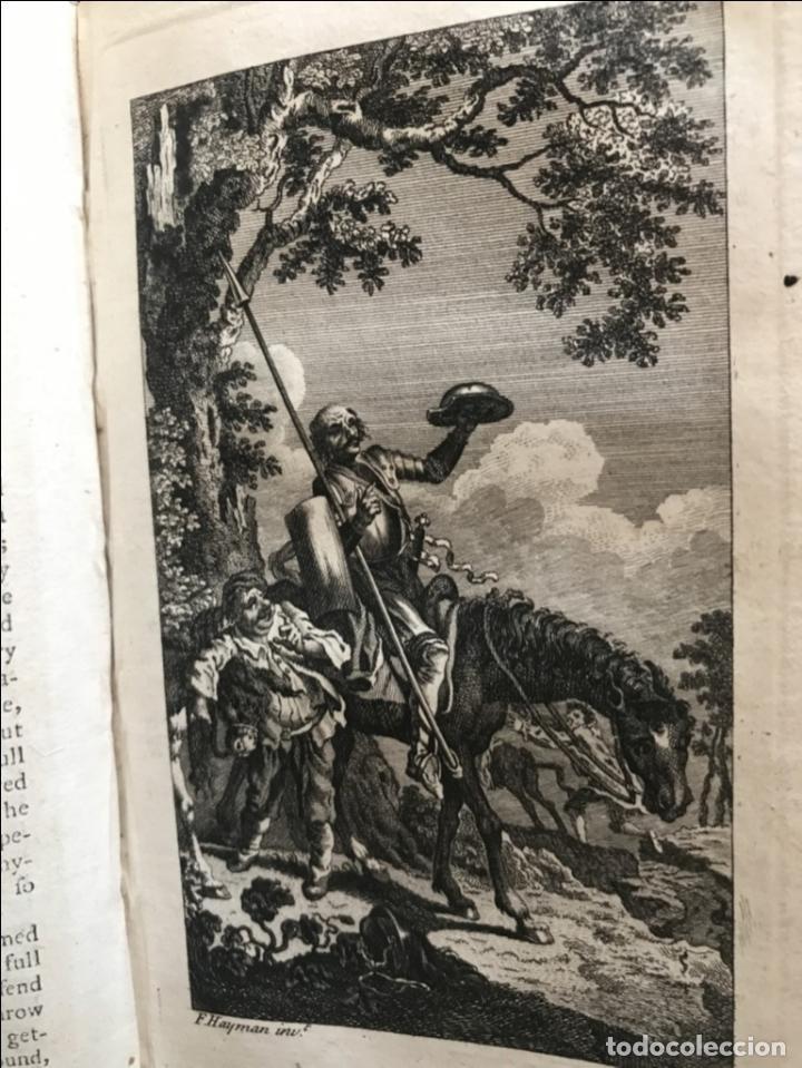 Libros antiguos: The History and Adventures ...Don Quixote, 4 tomos, 1761. Cervantes/Smollett. 28 grabados de Hayman - Foto 33 - 214504323