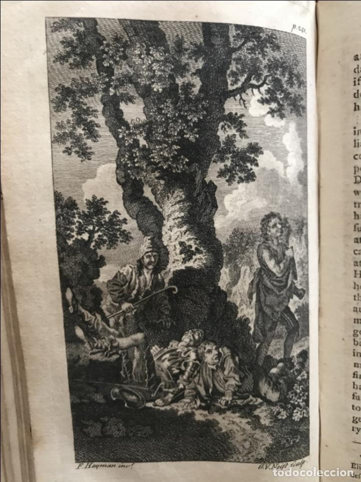 Libros antiguos: The History and Adventures ...Don Quixote, 4 tomos, 1761. Cervantes/Smollett. 28 grabados de Hayman - Foto 35 - 214504323