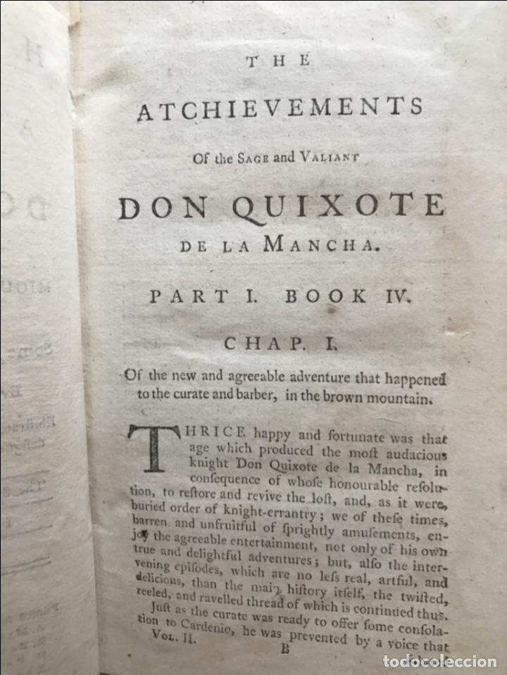 Libros antiguos: The History and Adventures ...Don Quixote, 4 tomos, 1761. Cervantes/Smollett. 28 grabados de Hayman - Foto 43 - 214504323
