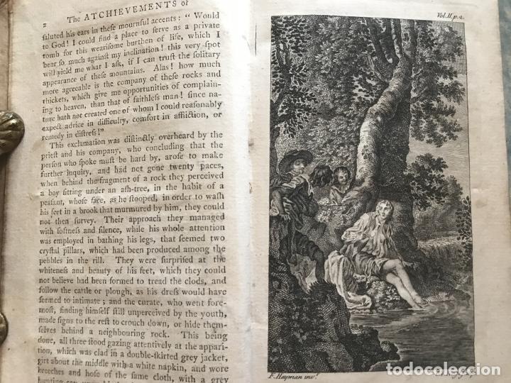 Libros antiguos: The History and Adventures ...Don Quixote, 4 tomos, 1761. Cervantes/Smollett. 28 grabados de Hayman - Foto 44 - 214504323