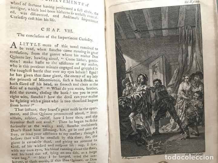 Libros antiguos: The History and Adventures ...Don Quixote, 4 tomos, 1761. Cervantes/Smollett. 28 grabados de Hayman - Foto 48 - 214504323