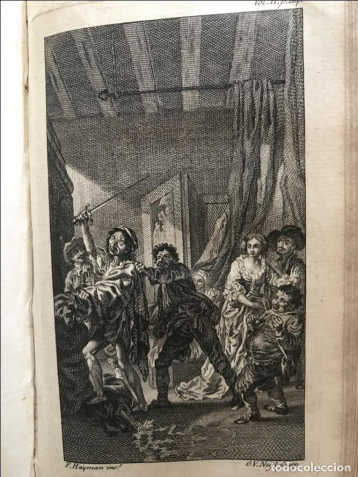 Libros antiguos: The History and Adventures ...Don Quixote, 4 tomos, 1761. Cervantes/Smollett. 28 grabados de Hayman - Foto 49 - 214504323