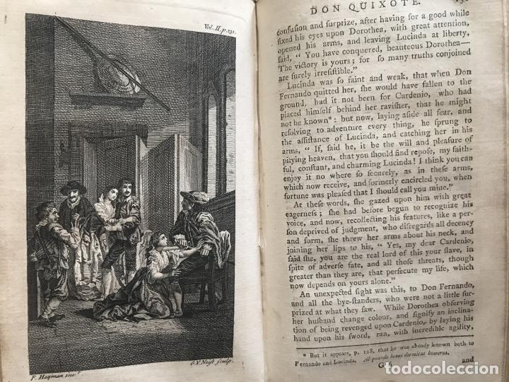 Libros antiguos: The History and Adventures ...Don Quixote, 4 tomos, 1761. Cervantes/Smollett. 28 grabados de Hayman - Foto 50 - 214504323