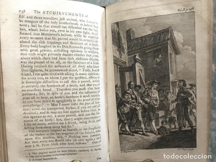 Libros antiguos: The History and Adventures ...Don Quixote, 4 tomos, 1761. Cervantes/Smollett. 28 grabados de Hayman - Foto 52 - 214504323