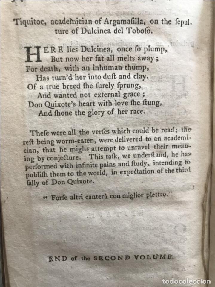 Libros antiguos: The History and Adventures ...Don Quixote, 4 tomos, 1761. Cervantes/Smollett. 28 grabados de Hayman - Foto 54 - 214504323