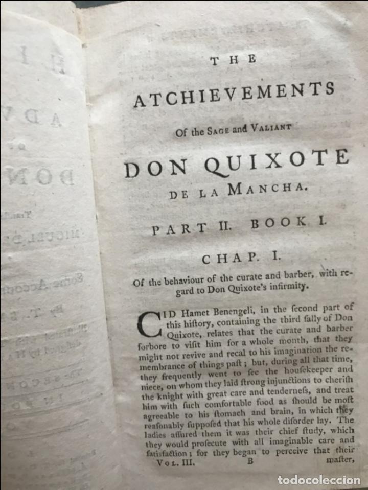 Libros antiguos: The History and Adventures ...Don Quixote, 4 tomos, 1761. Cervantes/Smollett. 28 grabados de Hayman - Foto 61 - 214504323