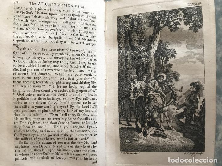 Libros antiguos: The History and Adventures ...Don Quixote, 4 tomos, 1761. Cervantes/Smollett. 28 grabados de Hayman - Foto 62 - 214504323