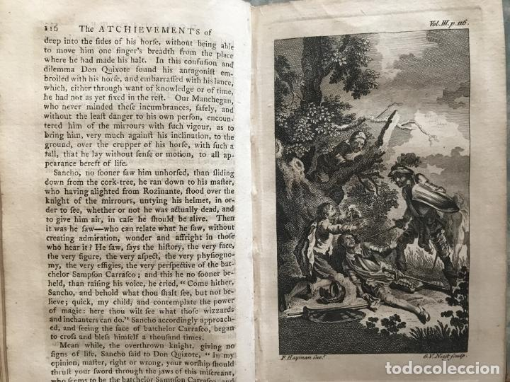 Libros antiguos: The History and Adventures ...Don Quixote, 4 tomos, 1761. Cervantes/Smollett. 28 grabados de Hayman - Foto 64 - 214504323