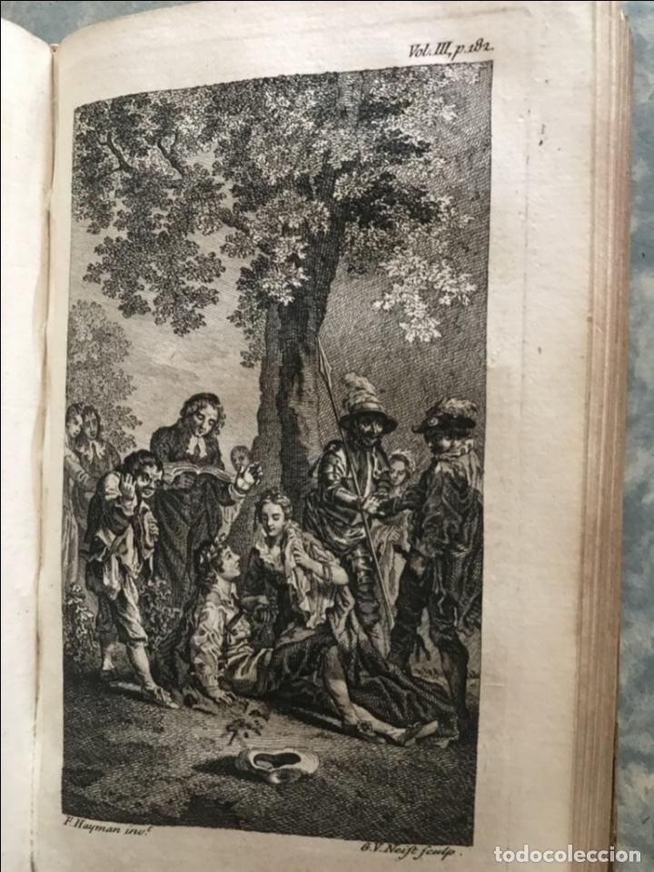 Libros antiguos: The History and Adventures ...Don Quixote, 4 tomos, 1761. Cervantes/Smollett. 28 grabados de Hayman - Foto 67 - 214504323