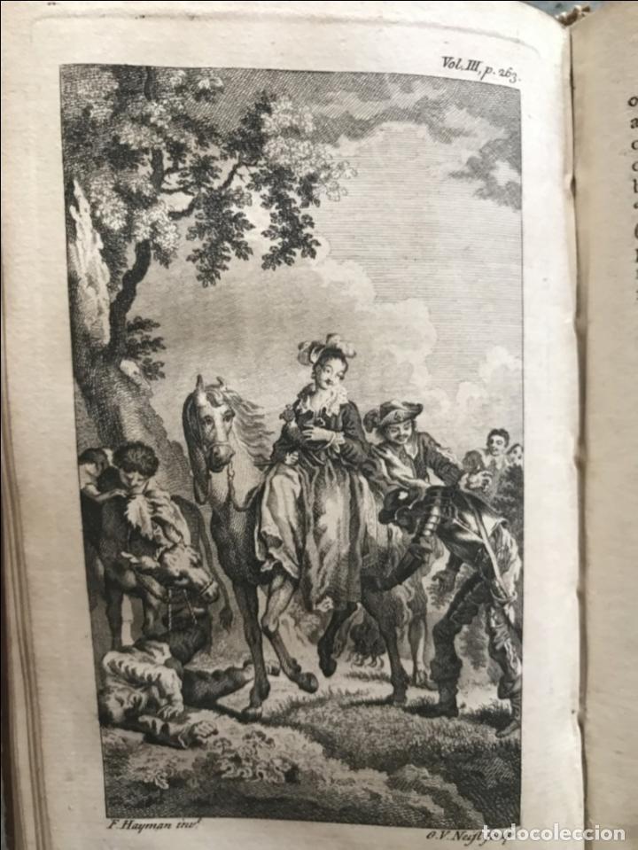 Libros antiguos: The History and Adventures ...Don Quixote, 4 tomos, 1761. Cervantes/Smollett. 28 grabados de Hayman - Foto 71 - 214504323