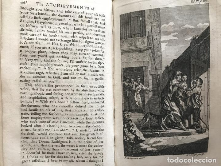 Libros antiguos: The History and Adventures ...Don Quixote, 4 tomos, 1761. Cervantes/Smollett. 28 grabados de Hayman - Foto 72 - 214504323