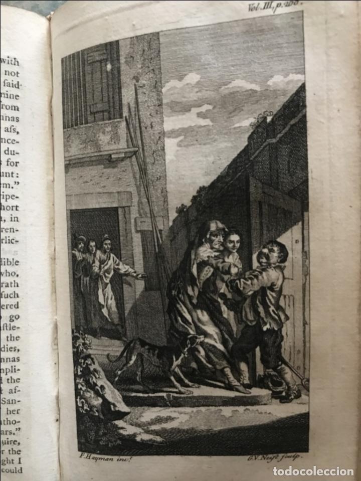 Libros antiguos: The History and Adventures ...Don Quixote, 4 tomos, 1761. Cervantes/Smollett. 28 grabados de Hayman - Foto 73 - 214504323