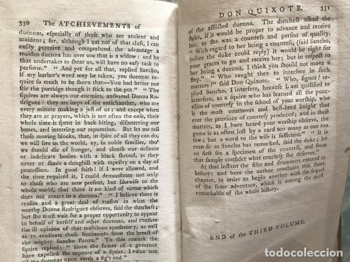 Libros antiguos: The History and Adventures ...Don Quixote, 4 tomos, 1761. Cervantes/Smollett. 28 grabados de Hayman - Foto 76 - 214504323