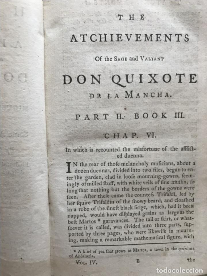Libros antiguos: The History and Adventures ...Don Quixote, 4 tomos, 1761. Cervantes/Smollett. 28 grabados de Hayman - Foto 82 - 214504323