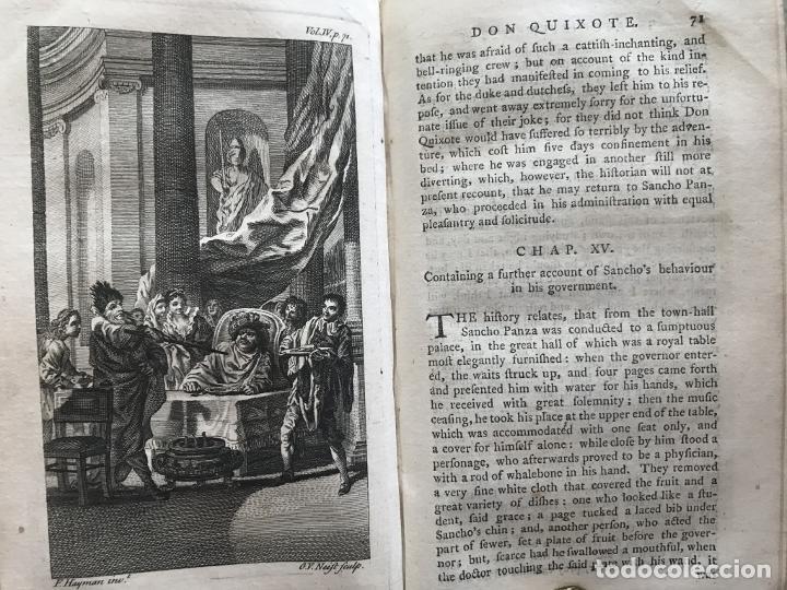 Libros antiguos: The History and Adventures ...Don Quixote, 4 tomos, 1761. Cervantes/Smollett. 28 grabados de Hayman - Foto 83 - 214504323