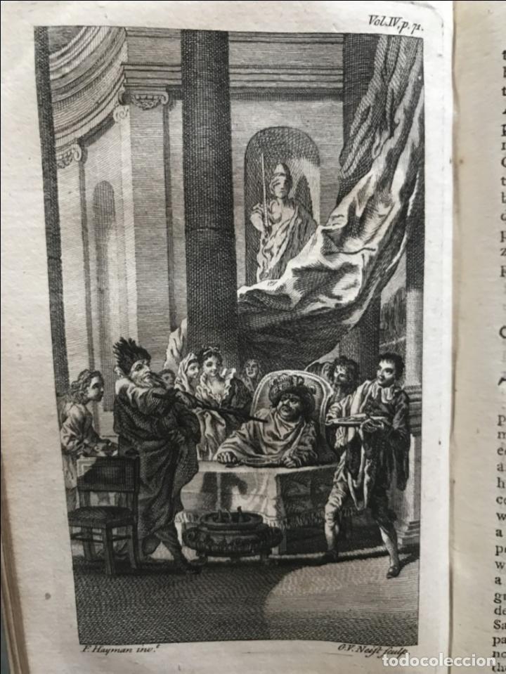 Libros antiguos: The History and Adventures ...Don Quixote, 4 tomos, 1761. Cervantes/Smollett. 28 grabados de Hayman - Foto 84 - 214504323