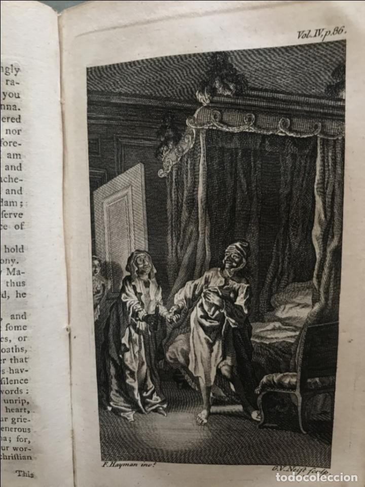 Libros antiguos: The History and Adventures ...Don Quixote, 4 tomos, 1761. Cervantes/Smollett. 28 grabados de Hayman - Foto 86 - 214504323