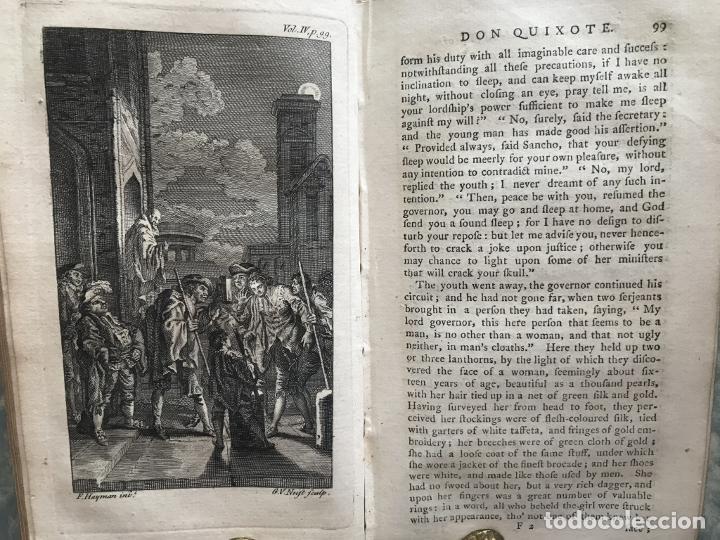 Libros antiguos: The History and Adventures ...Don Quixote, 4 tomos, 1761. Cervantes/Smollett. 28 grabados de Hayman - Foto 87 - 214504323