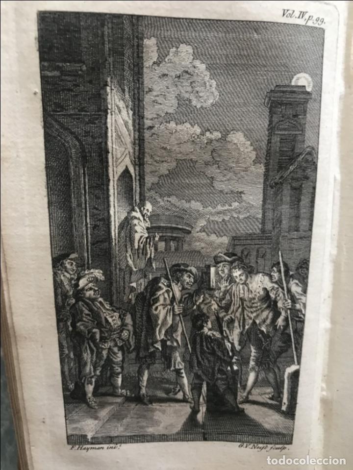 Libros antiguos: The History and Adventures ...Don Quixote, 4 tomos, 1761. Cervantes/Smollett. 28 grabados de Hayman - Foto 88 - 214504323