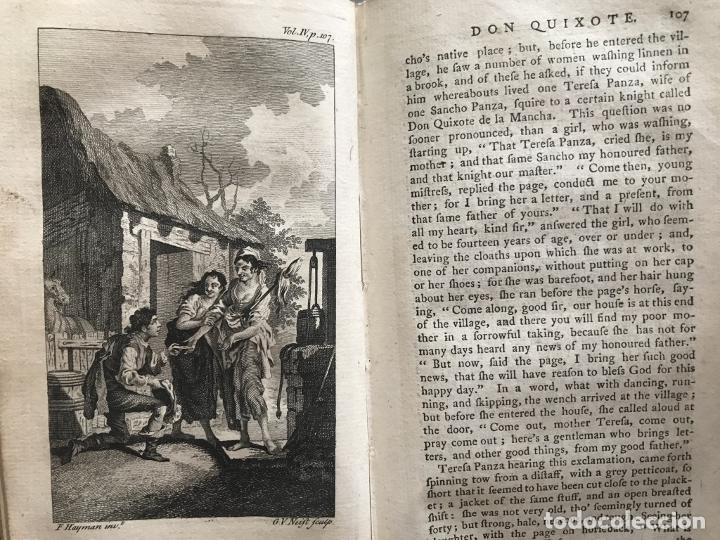 Libros antiguos: The History and Adventures ...Don Quixote, 4 tomos, 1761. Cervantes/Smollett. 28 grabados de Hayman - Foto 89 - 214504323