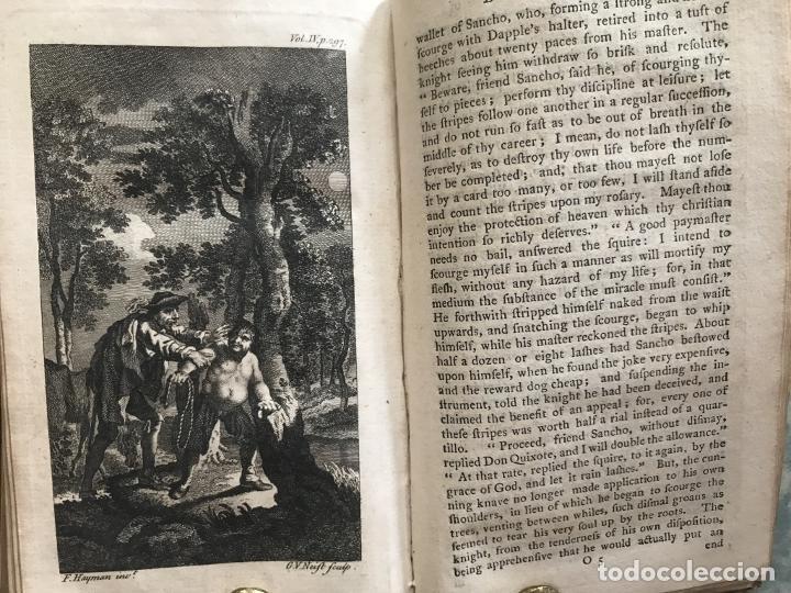 Libros antiguos: The History and Adventures ...Don Quixote, 4 tomos, 1761. Cervantes/Smollett. 28 grabados de Hayman - Foto 93 - 214504323