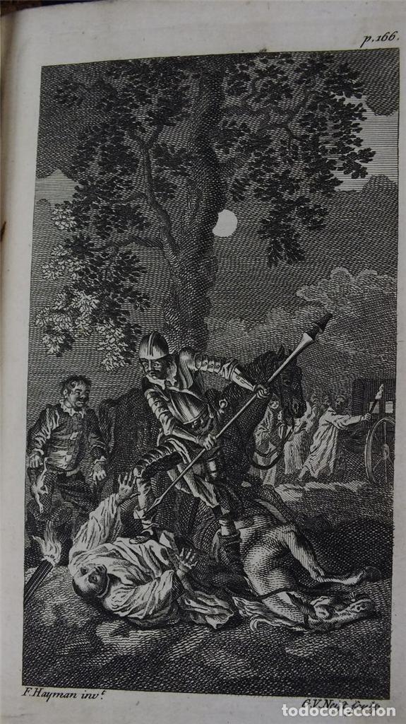 Libros antiguos: The History and Adventures ...Don Quixote, 4 tomos, 1761. Cervantes/Smollett. 28 grabados de Hayman - Foto 104 - 214504323