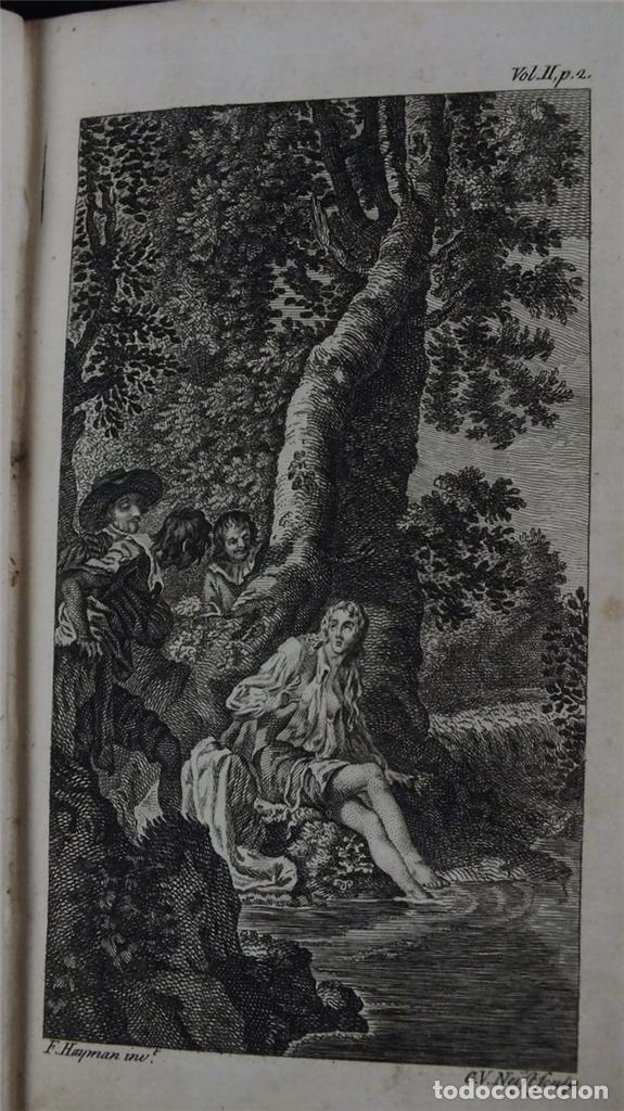 Libros antiguos: The History and Adventures ...Don Quixote, 4 tomos, 1761. Cervantes/Smollett. 28 grabados de Hayman - Foto 105 - 214504323