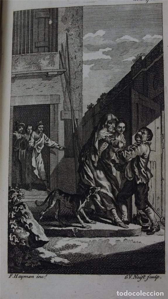 Libros antiguos: The History and Adventures ...Don Quixote, 4 tomos, 1761. Cervantes/Smollett. 28 grabados de Hayman - Foto 106 - 214504323