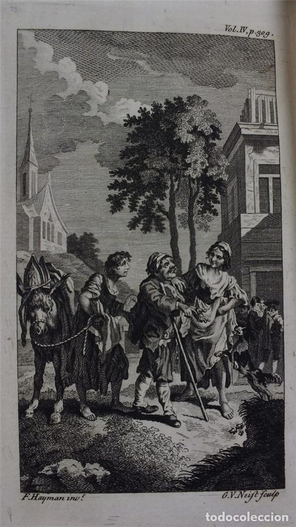 Libros antiguos: The History and Adventures ...Don Quixote, 4 tomos, 1761. Cervantes/Smollett. 28 grabados de Hayman - Foto 107 - 214504323