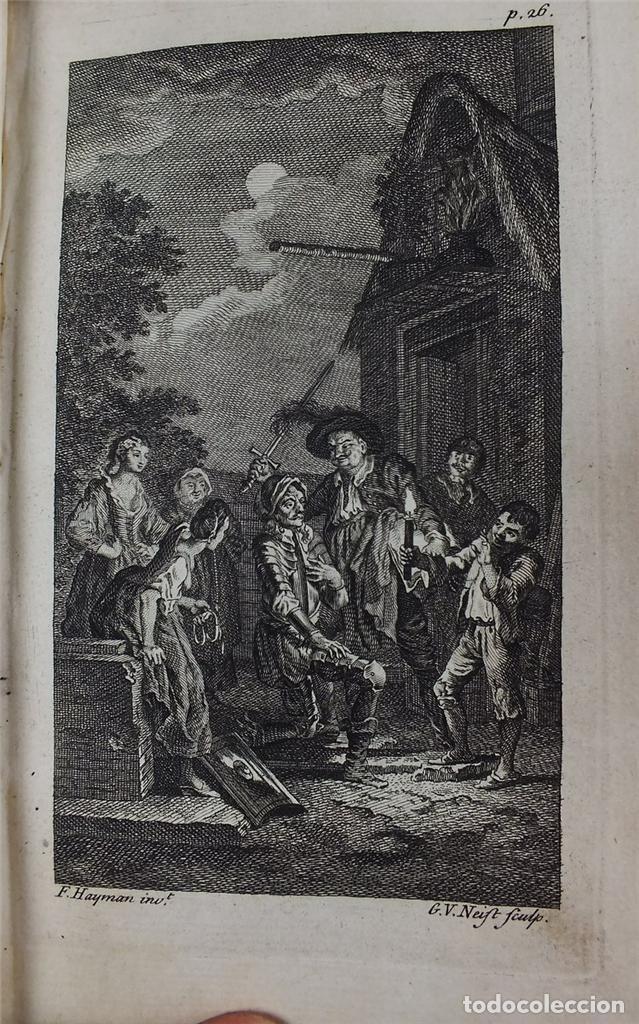 Libros antiguos: The History and Adventures ...Don Quixote, 4 tomos, 1761. Cervantes/Smollett. 28 grabados de Hayman - Foto 108 - 214504323