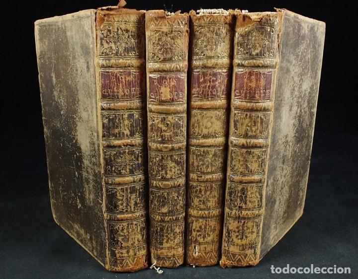THE HISTORY AND ADVENTURES ...DON QUIXOTE, 4 TOMOS, 1761. CERVANTES/SMOLLETT. 28 GRABADOS DE HAYMAN (Libros Antiguos, Raros y Curiosos - Literatura - Otros)