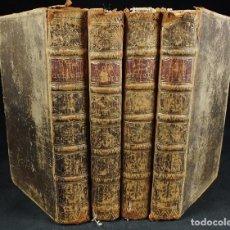 Libros antiguos: THE HISTORY AND ADVENTURES ...DON QUIXOTE, 4 TOMOS, 1761. CERVANTES/SMOLLETT. 28 GRABADOS DE HAYMAN. Lote 214504323