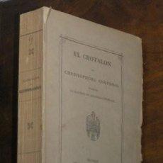 Libros antiguos: GNOPHOSO, CHRISTOPHORO: EL CROTALON. 1871. EJEMPLAR NUM. 4 DE UNA TIRADA DE 300 EJEMPLARES. Lote 85766620