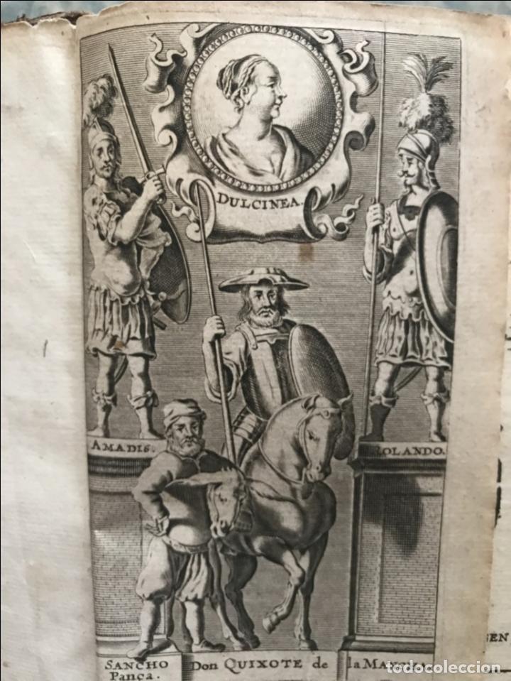 Libros antiguos: VIDA Y HECHOS...DON QUIJOTE DE LA MANCHA, Tomo I, 1719. Cervantes/Verdussen/Boultats - Foto 8 - 214545177