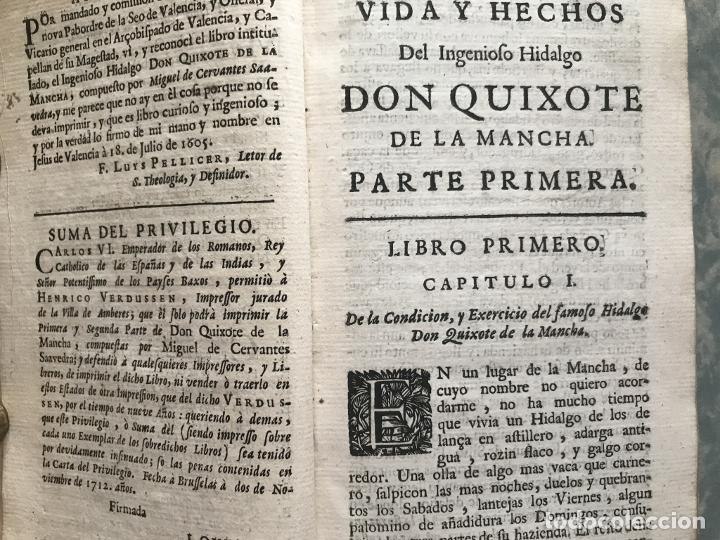 Libros antiguos: VIDA Y HECHOS...DON QUIJOTE DE LA MANCHA, Tomo I, 1719. Cervantes/Verdussen/Boultats - Foto 13 - 214545177