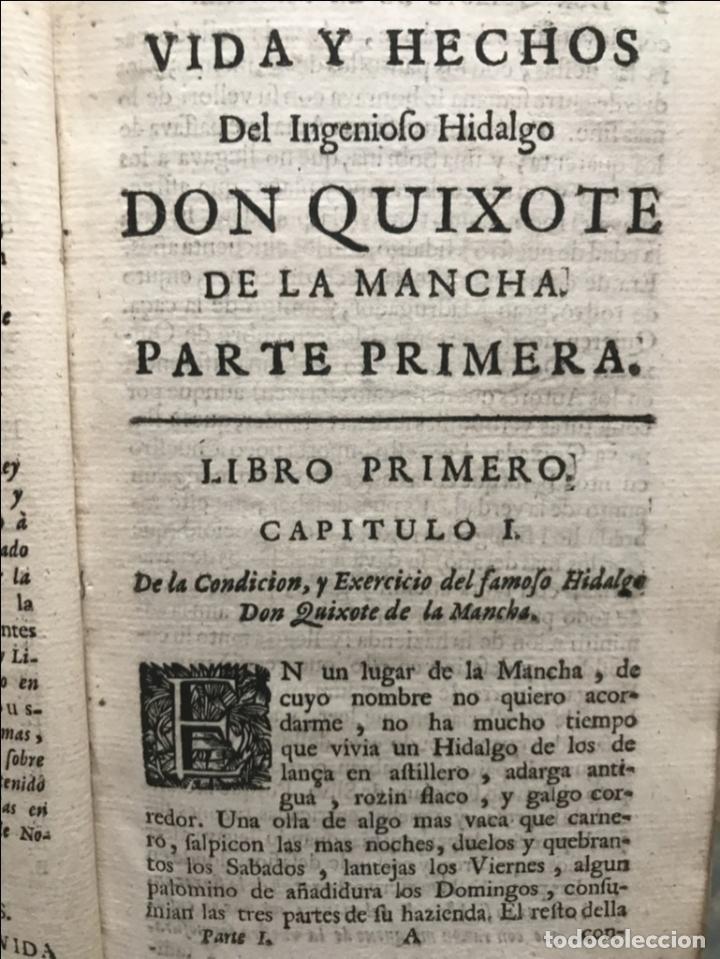 Libros antiguos: VIDA Y HECHOS...DON QUIJOTE DE LA MANCHA, Tomo I, 1719. Cervantes/Verdussen/Boultats - Foto 14 - 214545177