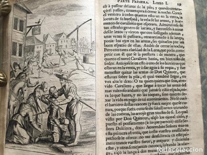 Libros antiguos: VIDA Y HECHOS...DON QUIJOTE DE LA MANCHA, Tomo I, 1719. Cervantes/Verdussen/Boultats - Foto 15 - 214545177