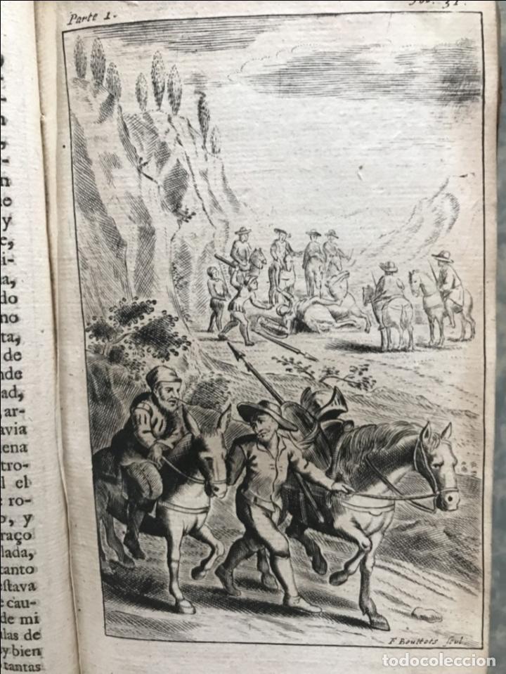 Libros antiguos: VIDA Y HECHOS...DON QUIJOTE DE LA MANCHA, Tomo I, 1719. Cervantes/Verdussen/Boultats - Foto 19 - 214545177