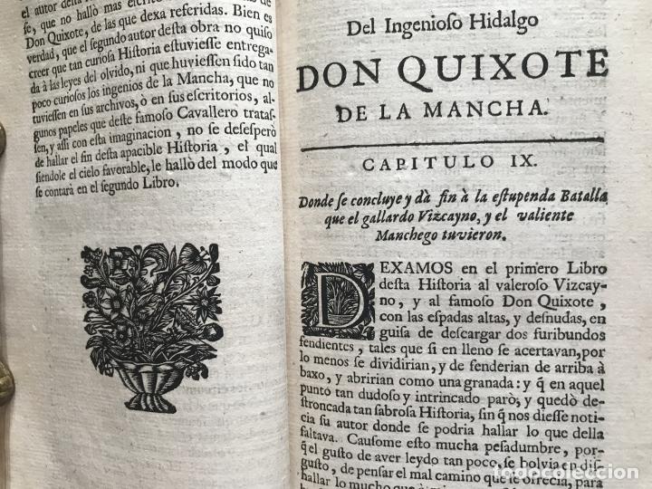 Libros antiguos: VIDA Y HECHOS...DON QUIJOTE DE LA MANCHA, Tomo I, 1719. Cervantes/Verdussen/Boultats - Foto 23 - 214545177
