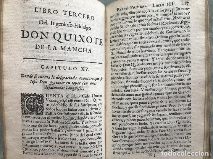 Libros antiguos: VIDA Y HECHOS...DON QUIJOTE DE LA MANCHA, Tomo I, 1719. Cervantes/Verdussen/Boultats - Foto 24 - 214545177