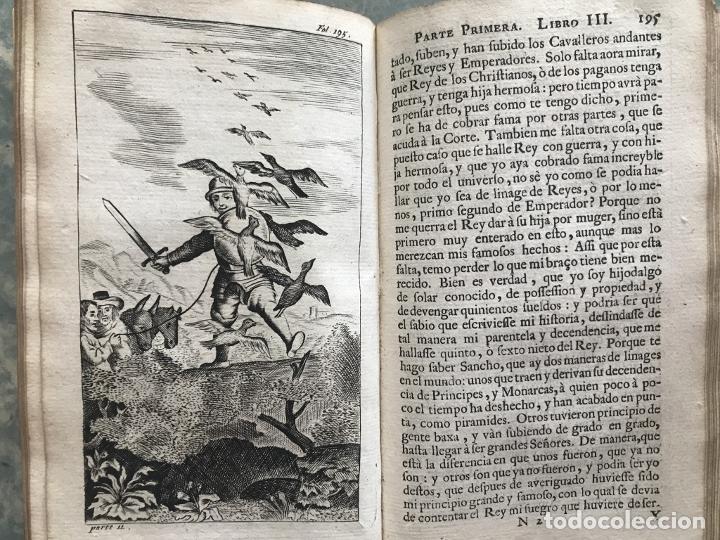 Libros antiguos: VIDA Y HECHOS...DON QUIJOTE DE LA MANCHA, Tomo I, 1719. Cervantes/Verdussen/Boultats - Foto 30 - 214545177