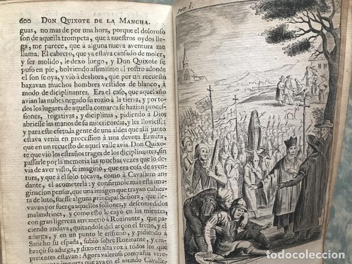 Libros antiguos: VIDA Y HECHOS...DON QUIJOTE DE LA MANCHA, Tomo I, 1719. Cervantes/Verdussen/Boultats - Foto 44 - 214545177