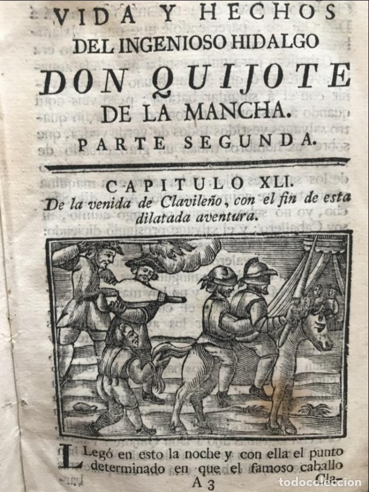 Libros antiguos: Vida y Hechos...don Quijote de la Mancha, tomo 4, 1765. M. de Cervantes/Manuel Martin. Xilografías. - Foto 9 - 214624825